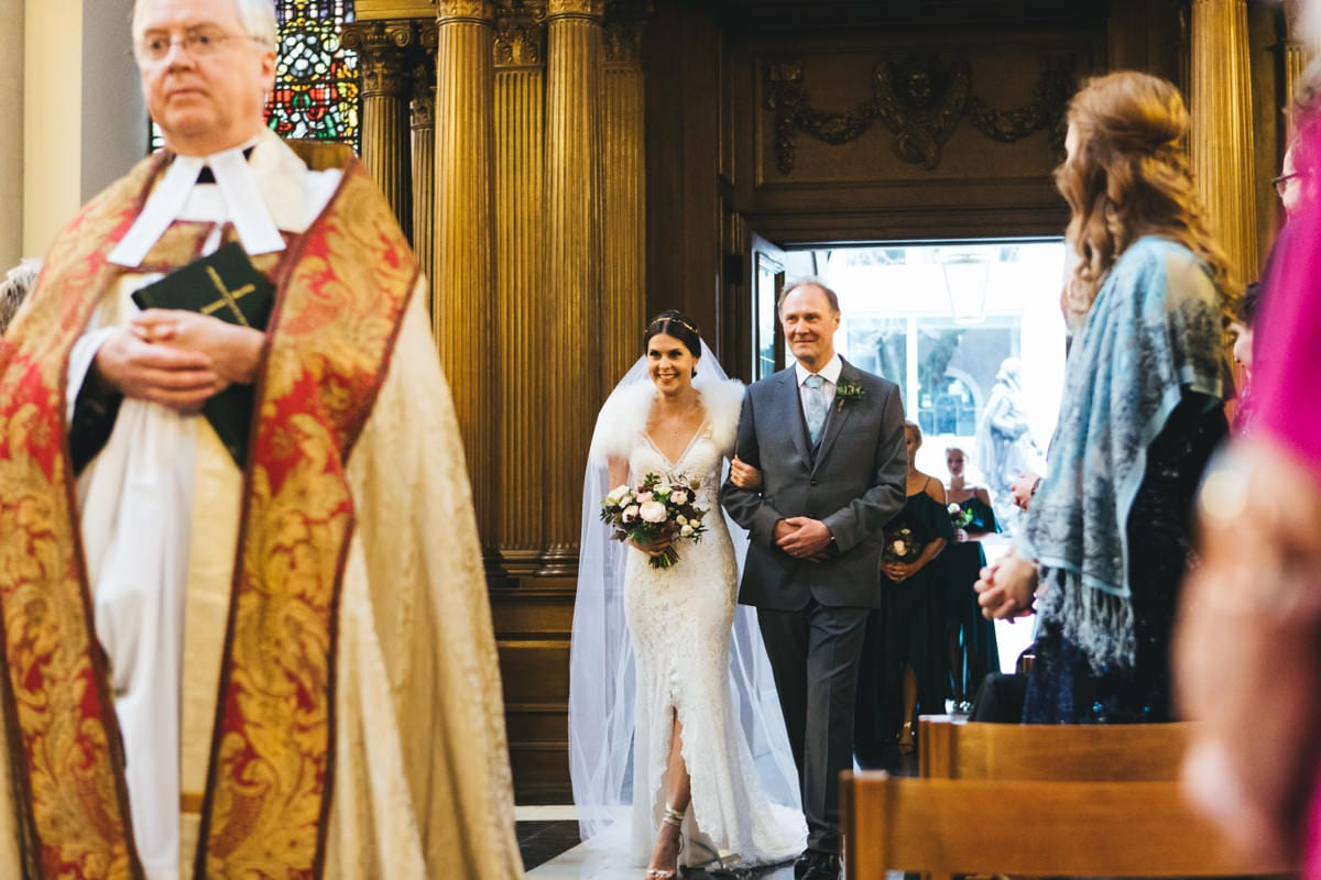 wedding at St Mary-le-Bow Church London